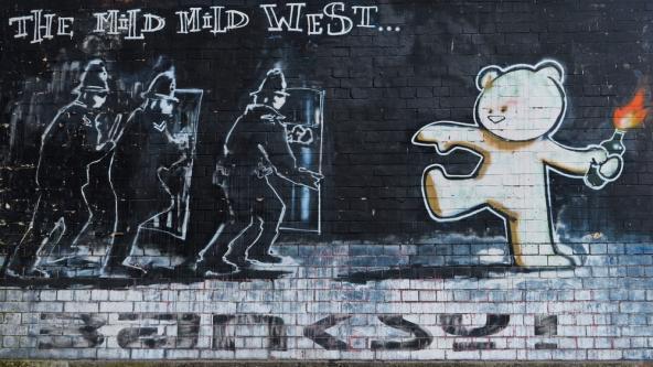 Banksy mural in Bristol