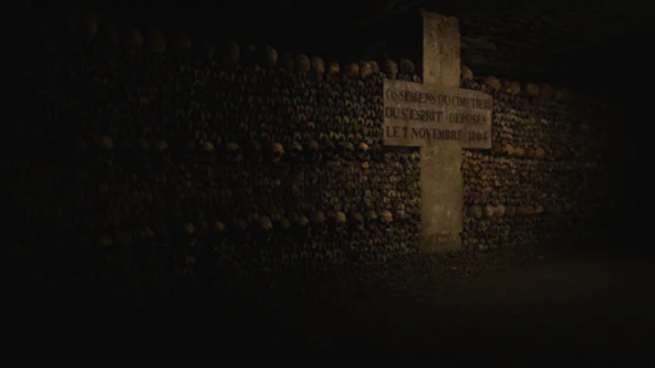 Paris Catacombs during a tour