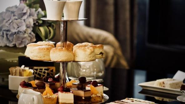 afternoon tea with sweets