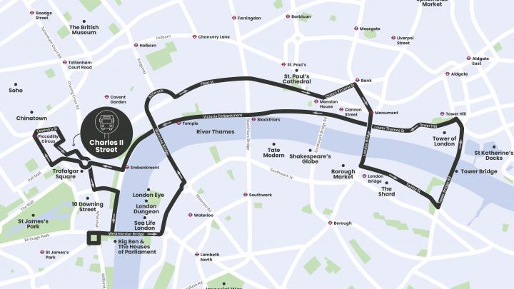 London Bar Bus route