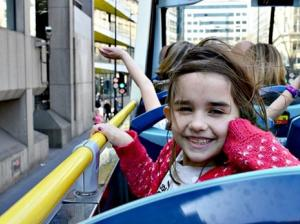 London with kids : Sightseeing non-stop bus tour